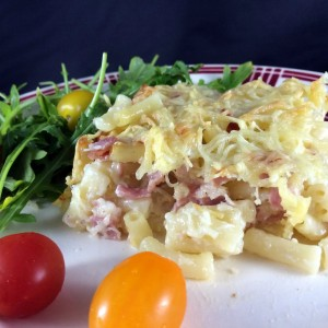 Gratin de macaroni au jambon (photo)
