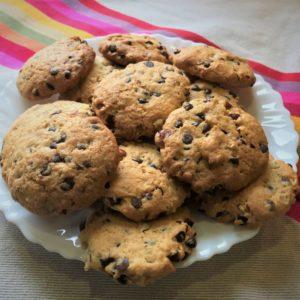 Cookies américains, chocolat & noisettes (photo)
