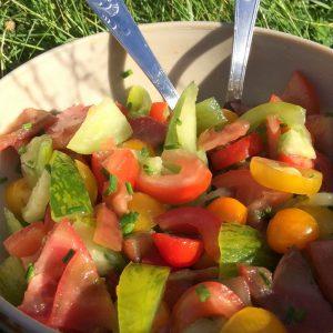 Salade de tomates (photo)