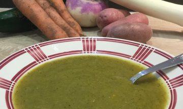 Soupe de légumes variés